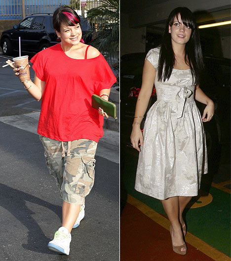 Lily Allen - before and after hypnosis