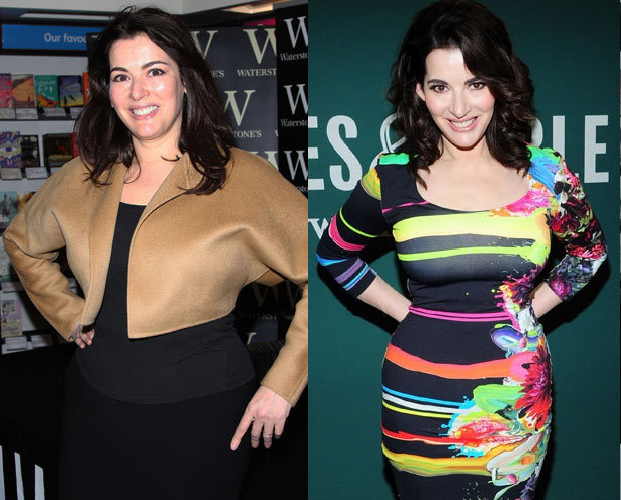Nigella Lawson - before and after